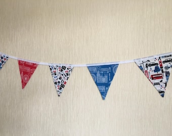 London bunting, London Taxi, London EYE, Union Jack bunting, United Kingdom, kids room decor, flag bunting, love London, kids gift