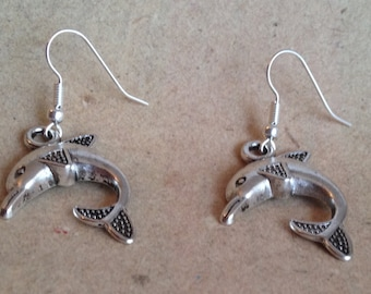 Dolphin earrings silver