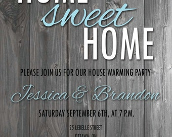 Home Sweet Home - party invite - Item #008