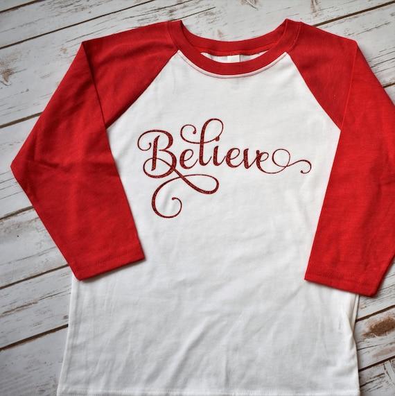 techniques modernes détaillant remise chaude La femme pense chemise - Noël chemises - chemise de Noël - croient Raglan -  Shirt joyeux Noël - Noël