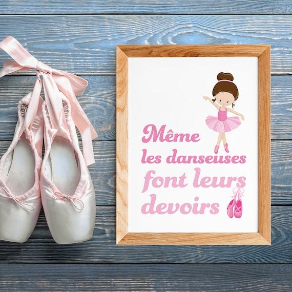 Girl Room Poster Quote In French Star Dancer Poster Ballerina For Children Scandinavian Décor