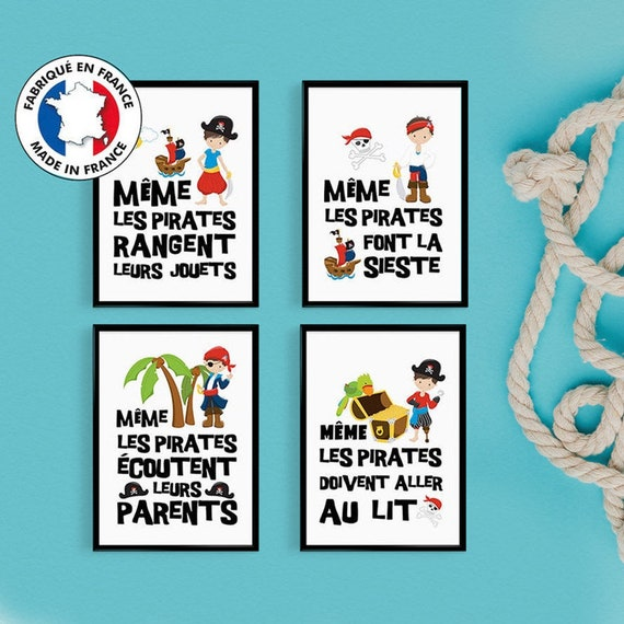 Promo Set Of 4 Posters Quote Young Pirates For Childs Room Poster Quote Kids Decor Boy Gift