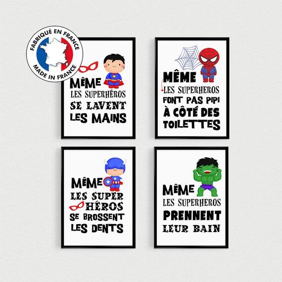 Promo Lot De 4 Posters Citations Super Heros Enfant A Etsy