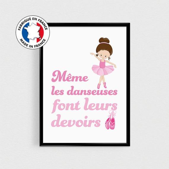 Chambre Fille Poster Citation En Français Danseuse étoile Poster Ballerine Pour Enfant Déco Scandinave