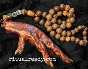 Chicken Foot Hoodoo Rosary Prayer Beads Protective Amulet