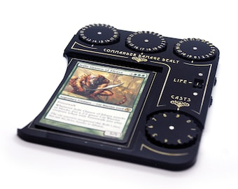 Commander tray compatible with Magic The Gathering