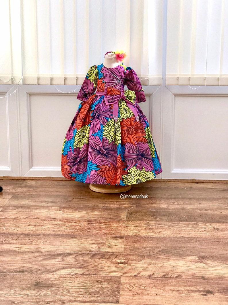 Ankara baby ball gown My african princess \u201cCamille\u201d special dress  made to order  flower girl Dress  ball gown