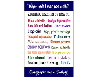 Intermediate Algebra and Mymathlab Pkg Math Poster, When will I use m