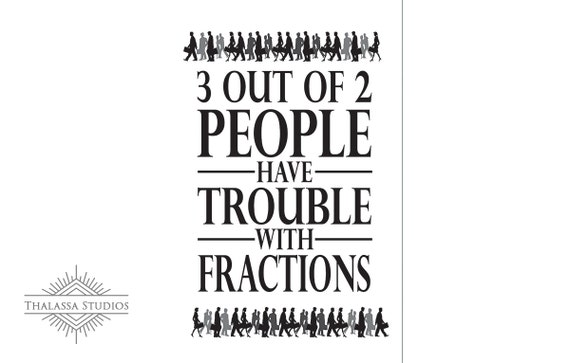 Math Poster, Fun, Fractions, Printable Poster, Maths, Education