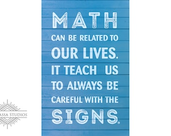 Math, Printable Poster, Motivational, Education
