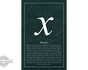 Math Poster, x, Printable Poster, Maths, Education
