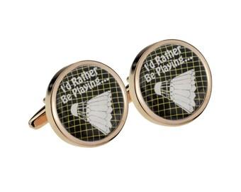Sports Cuff Links Badminton Cufflinks Lifetime Guarantee Wedding Cufflink Pair S0637 Shuttlecock Cufflinks