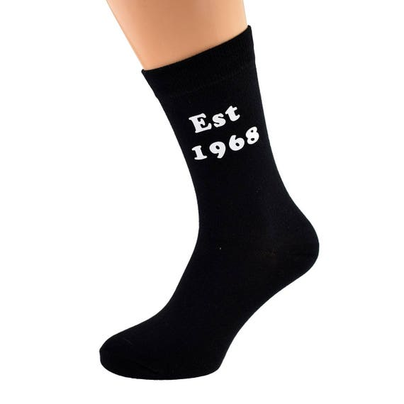 Aged to Perfection 1947 Printed Design Ladies PURPLE Socks 70th Birthday