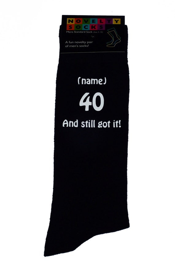 Black Birthday Celebration Cotton Novelty Socks Born in 1978 Black Socks