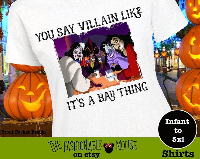 Disney Villain Shirt, Disney Villian Shirt, Disney Villian Tee, Disney Villain Tee