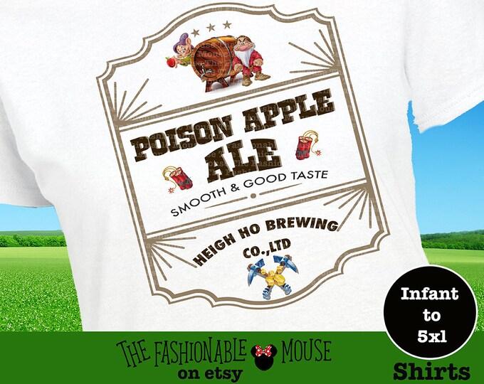 Disney Seven Dwarfs Shirt, Disney Beer Shirt, Disney Men's Shirt, Disney Food and Wine Shirt, Disney 7 Dwarfs Shirt, Disney Drinking Shirt