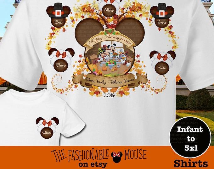 Disney Family Thanksgiving Shirts, Disney Family Pilgrim Shirts, Mickey Thanksgiving Family Shirt, Disney Turkey Shirts, Mickey Turkey Shirt