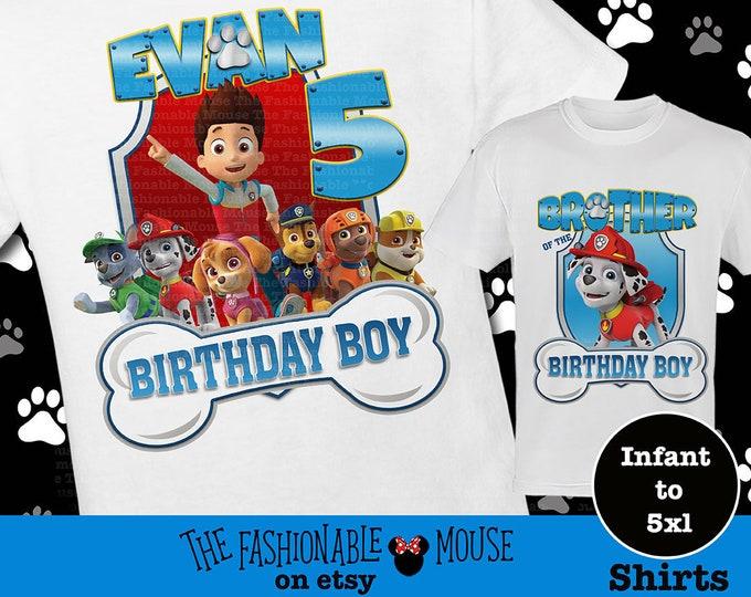 Paw Patrol Birthday Shirt Matching Ryder Skye