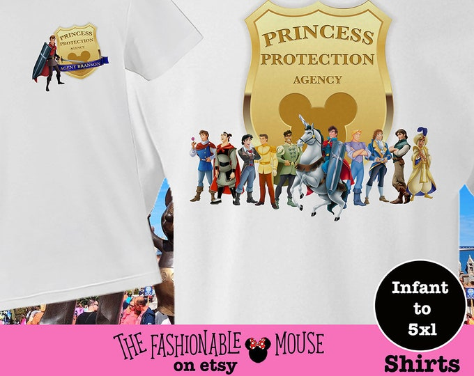 Princess Protection Shirt, Princess Protection Tee, Disney Prince Tee, Princess Protection Agent Shirt