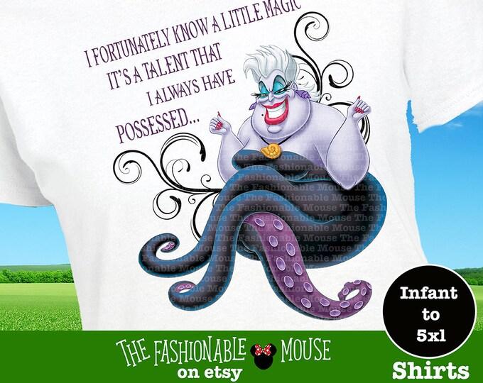 Disney Ursula Shirt, Disney Villain Tee