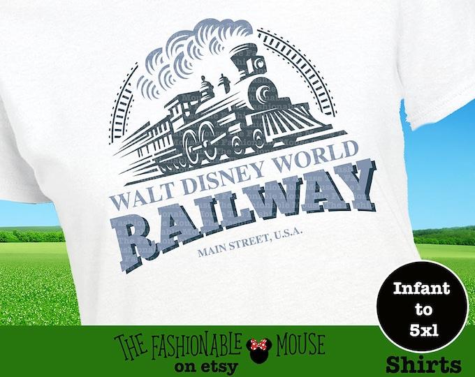 Disney Railroad Shirt, Disney Train Shirt, Disney World Train Tee, Disney Ride Tee, Boys Train Shirt,