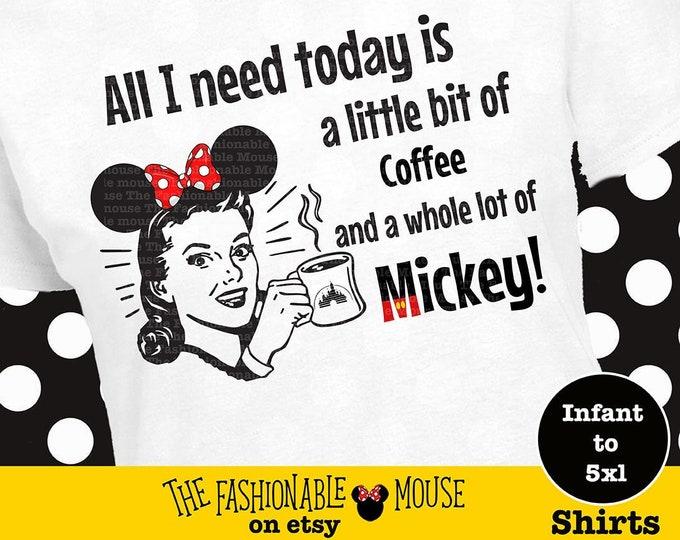 Disney Time Shirt, Funny Disney Shirt, Disney Witty Shirt, Disnee Shirt, Disney Coffee Shirt, Disney Coffee Tank, Mickey Shirt, Mickey Tank