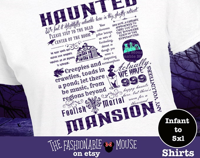 Disney Haunted Mansion Shirt, Haunted Mansion Shirt, Disney Haunted Mansion Tank, Disney Halloween Shirt, Disney Halloween Tank