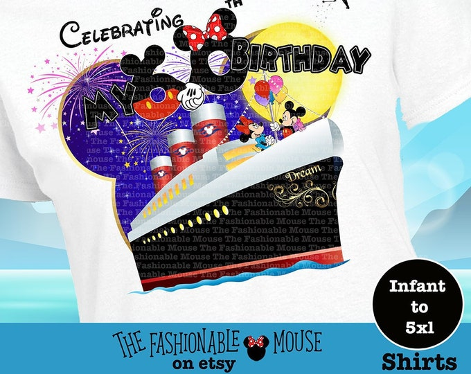 Disney Matching Cruise Shirts, Disney Cruise Birthday Shirt, Disney Family Cruise Shirts, Disney Birthday Cruise Tank, Disney Birthday Shirt
