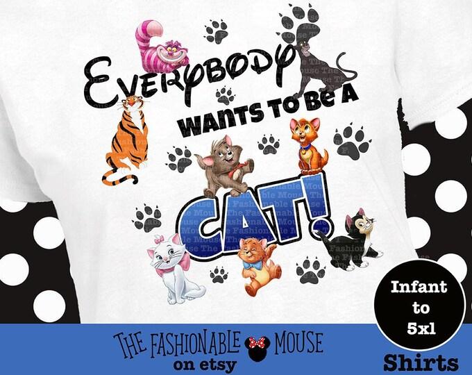 Disney Cat Shirt, Disney Kitten Shirt, Marie Shirt, Chesire Cat Shirt, Rajah Shirt, Aristocat Shirt, Disney Cat Tank, Disney Kitten Tank