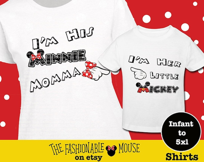 Disney Mom And Son Shirts, I'm Her Mickey Shirt, Mommy And Me Disney Shirts