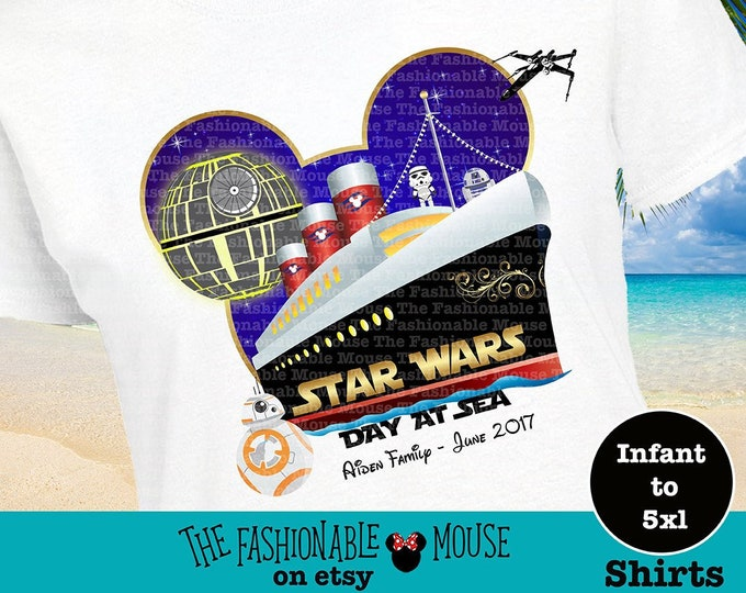 Star Wars Day At Sea Shirt, Star Wars Cruise Shirt, Star Wars Day At Sea Tee