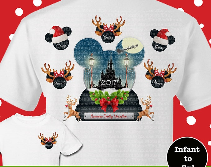 Disney Christmas Family Shirts, Disney Family Christmas Shirts, Disney Family Holiday Shirts, Family Santa Shirts, Family Reindeer Shirts