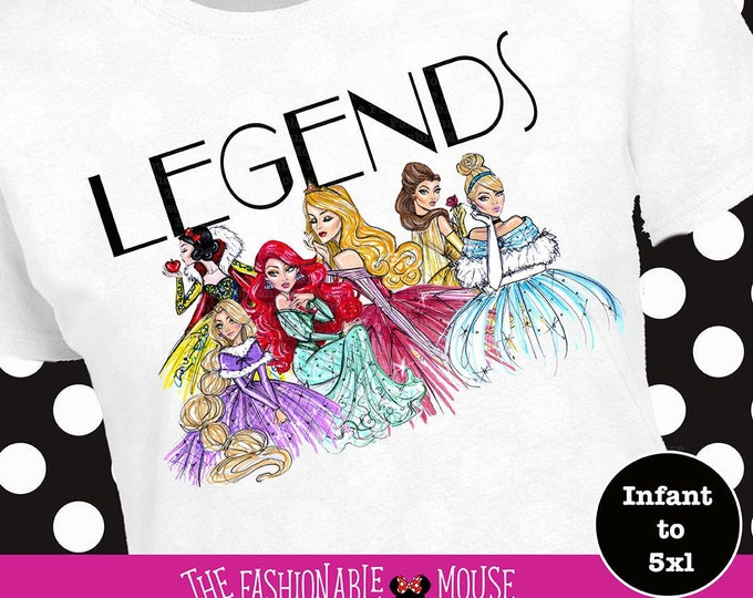 Disney Princess Fab Five Legends Shirt