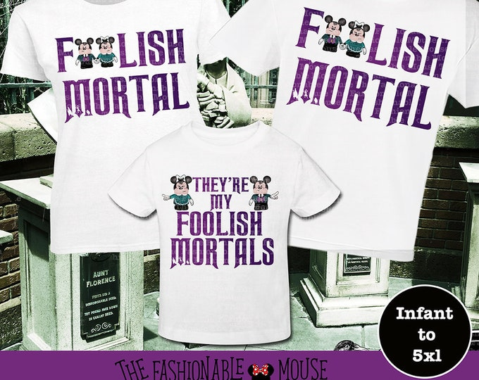 Haunted Mansion Couples Shirt, Foolish Mortals Couples Shirt, Disney Family Mortal, Disney Halloween Couples Shirt, Foolish Mortal Family