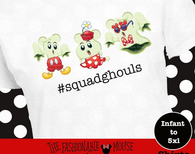 Halloween Squad Shirt, Squad Ghouls Shirt, Squad Ghouls Tank, Mickey Ghost Shirt, Minnie Ghost Shirt, Disney Squad Goals Shirt