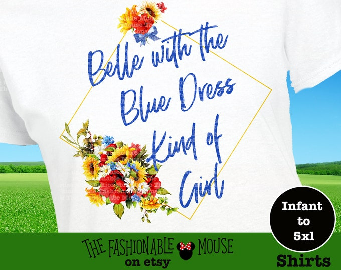 Belle Blue Dress Shirt, Disney Belle Tank, Disney Belle Plus Size