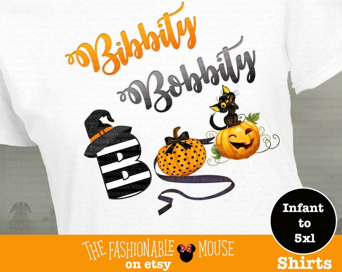 Bibbity Bobbity Boo Shirt, Disney Halloween Shirt, Disney Halloween Pumpkin Shirt,