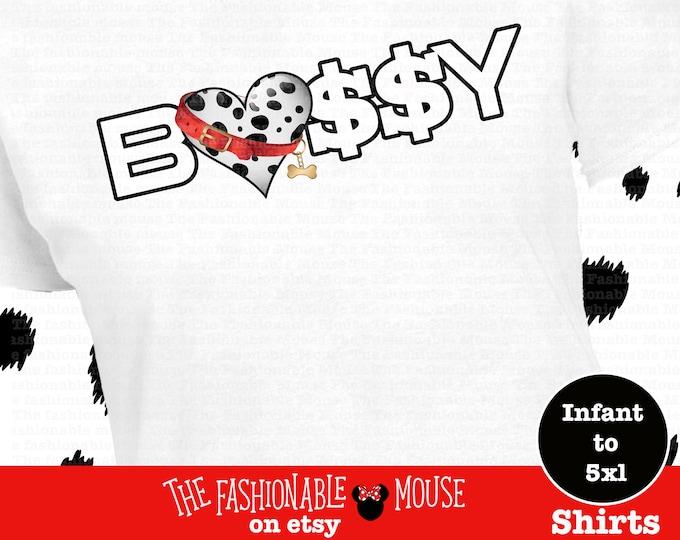 101 Dalmatian Shirt, Disney Dalmatian Shirt, Bossy Shirt,