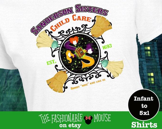 Hocus Pocus Shirt, Disney Sanderson Sisters Child Care Shirt, Disney Halloween Shirt,