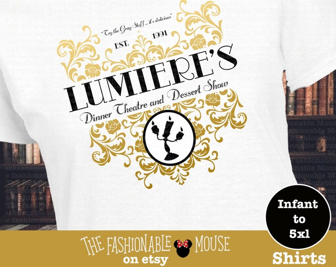 Beauty and the Beast Lumiere Shirt, Lumiere Logo Shirt, Disney Lumiere Shirt,