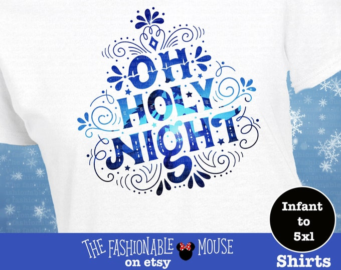 Oh Holy Night Shirt, Christmas Carol Shirt, Christmas Song Shirt,