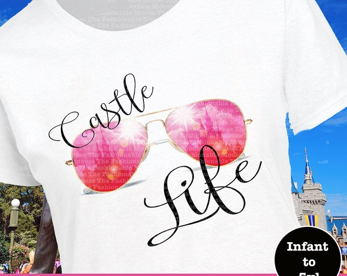 Disney Castle Life Shirt, Disney Castle Shirt, Disney Glasses Shirt