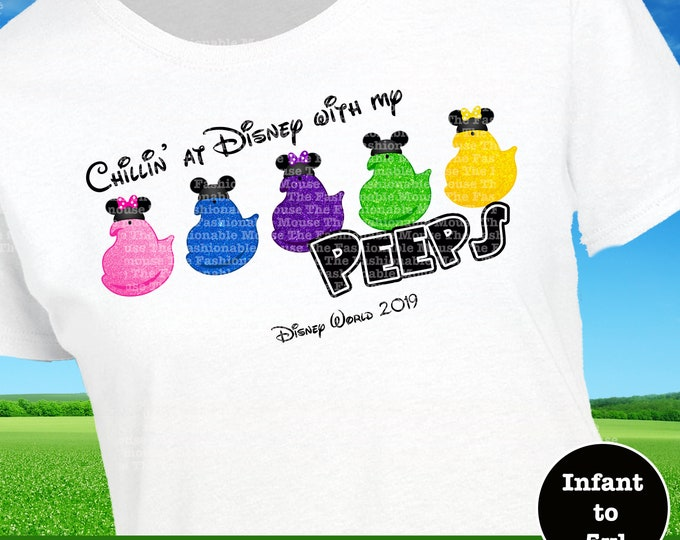Disney Easter Peeps Shirt, Disney Peeps Tank, Easter Peeps Shirt, Disney Easter Bunny Shirt, Disney Spring Shirt