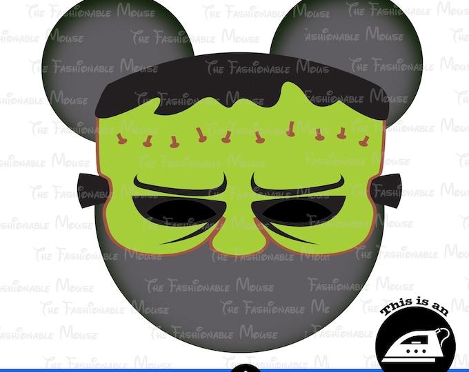 Digital Download Halloween Frankenstein Head