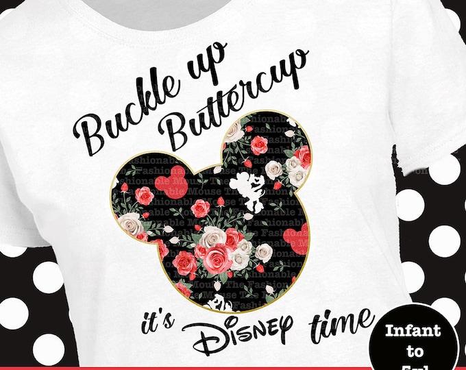 It's Disney Time Shirt, Minnie Mouse Shirt, Minnie Silhouette Shirt, Minnie Floral Shirt, Disney Floral Shirt, Funny Disney Shirt