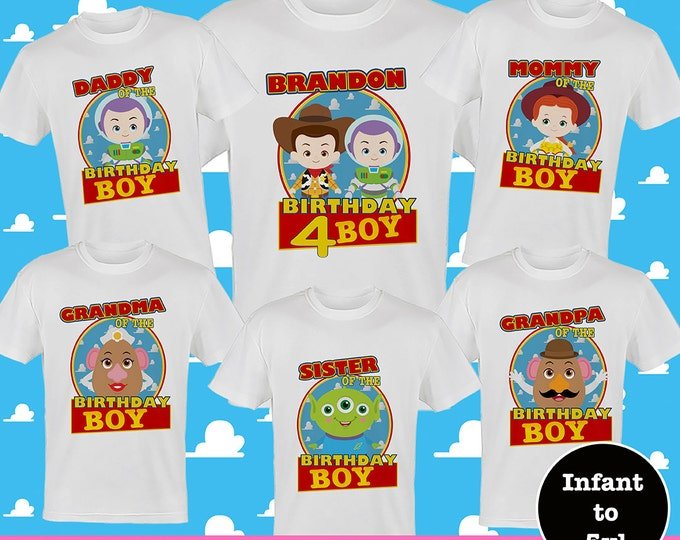 Toy Story Birthday Shirts, Disney Family Birthday Shirts, Buzz Lightyear Birthday Shirts