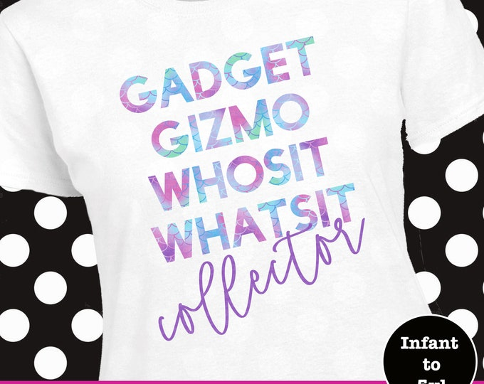 Little Mermaid Gadgets Shirt, Gadgets and Gizmos Shirt, Little Mermaid Shirt