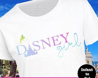 2d90200e78756 Disney Girl Tinkerbell Castle Shirt