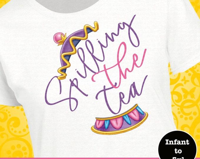 Mrs. Potts Shirt, Disney Spilling The Tea Shirt, Disney Beauty And The Beast Shirt,