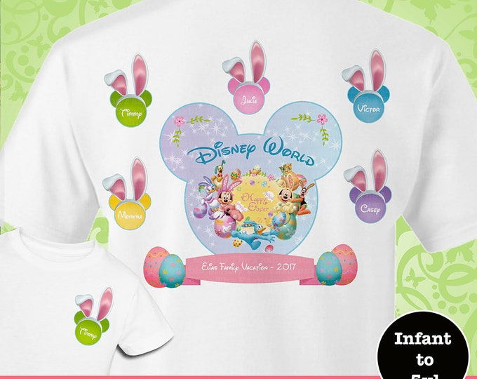 Disney Easter Family Shirts, Disney World Family, Disney Bunny Shirts, Disney Matching Family Shirts